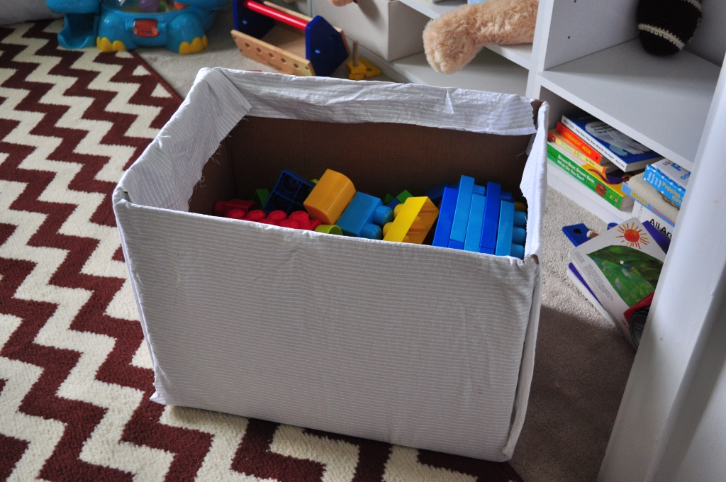 Upcycled: Cardboard Toy Box