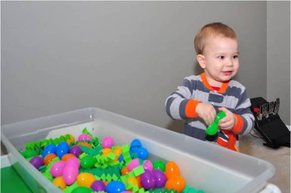 egg sensory table