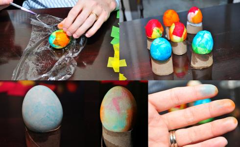 tissue paper easter eggs