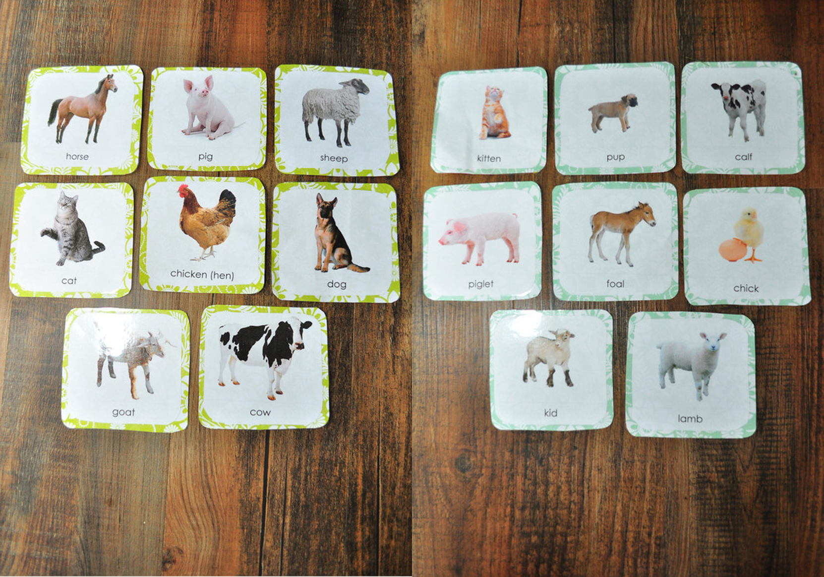 Montessori Inspired Farm Animal Cards | This Girl's Canon