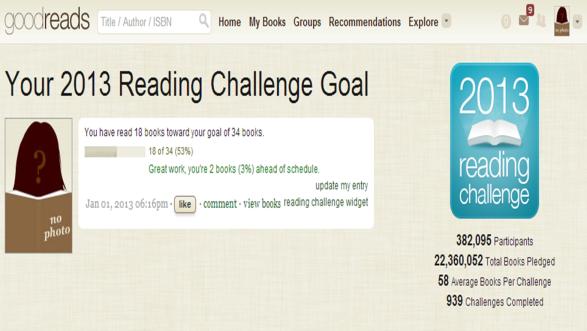 reading challenge snapshot